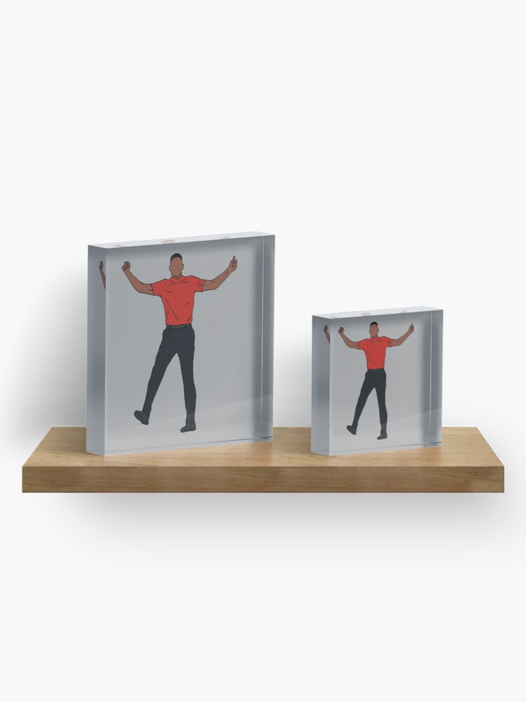 Alternate view of Tiger Woods Celebration Acrylic Block