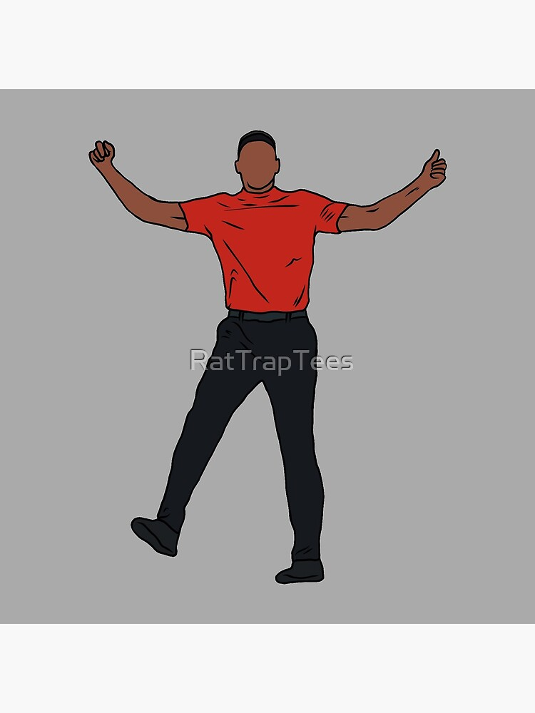 Tiger Woods Celebration by RatTrapTees