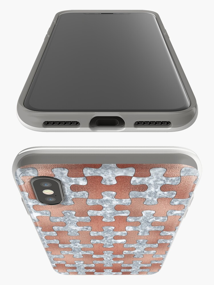 Alternative Ansicht von PUZZLE 1 ROSE GOLD GRAY MARBLE iPhone-Hülle & Cover