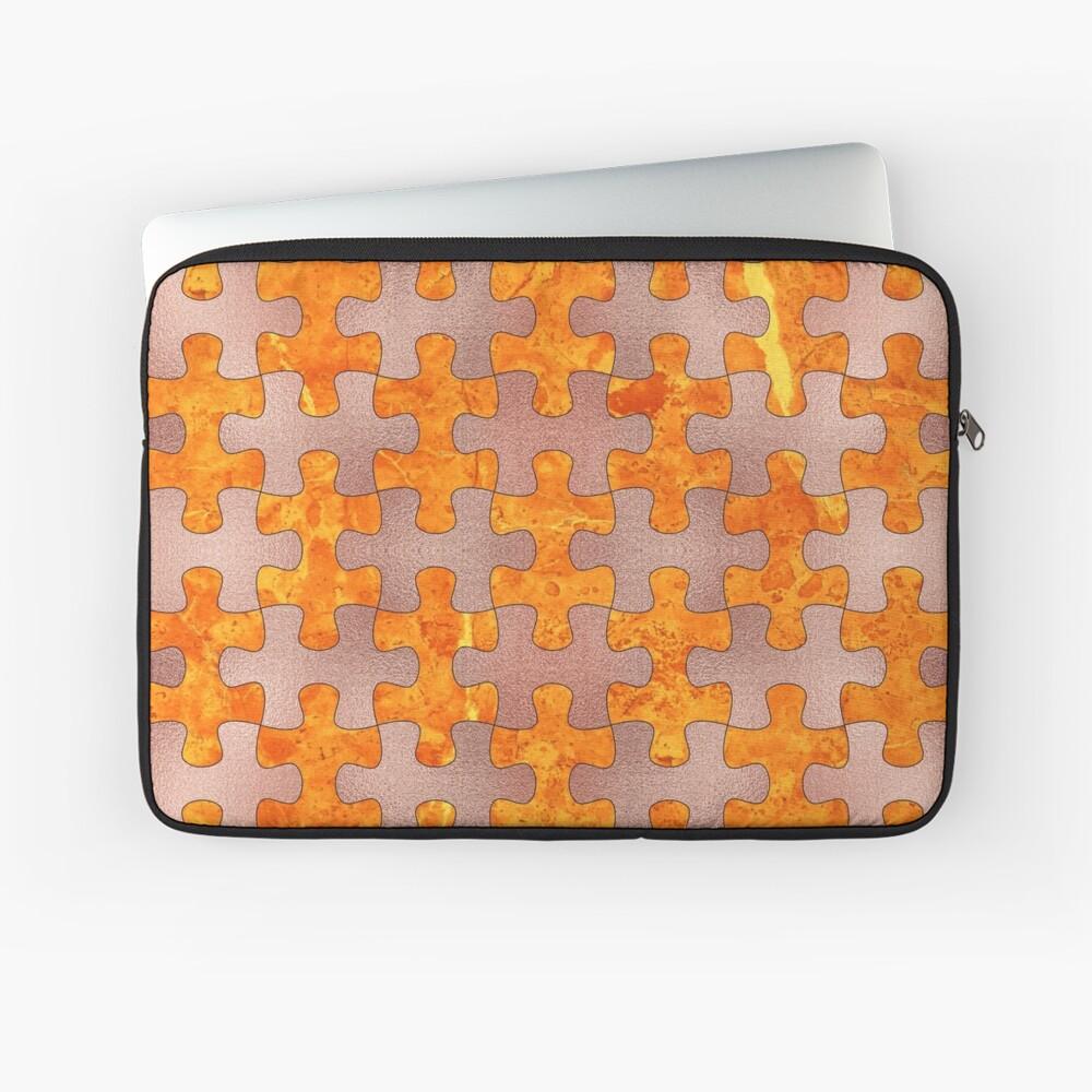 PUZZLE 1 ROSE GOLD ORANGE MARBLE Laptoptasche