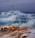 Winter Waves At Pipeline 18 by Alex Preiss