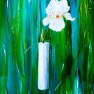 Single Iris in a Vase by RochelleMc