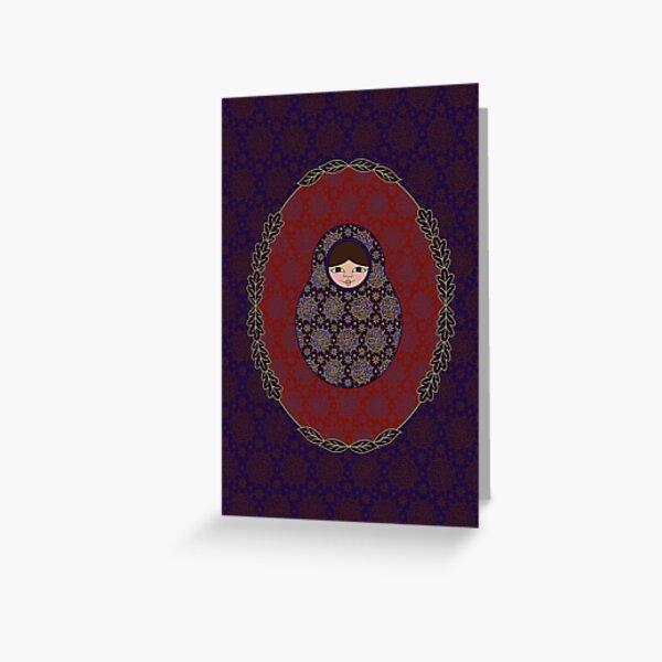 Carte Médaillon . Collection Victorienne . Sophia Poup's Carte de vœux