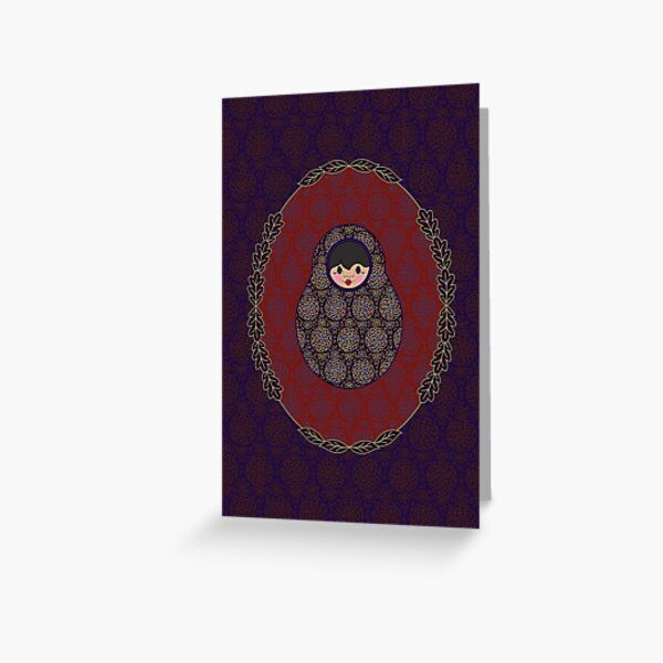 Carte Médaillon . Collection Victorienne . Stella Poup's Carte de vœux