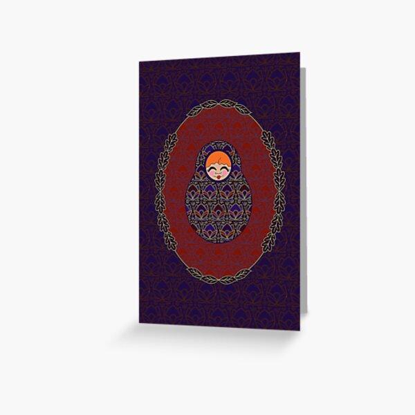 Carte Médaillon . Collection Victorienne . Diane Poup's Carte de vœux