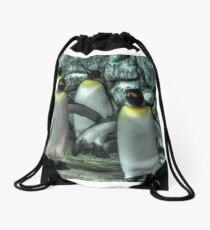 Four Penguins Drawstring Bag