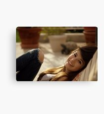Breana: With a Warm Smile Canvas Print