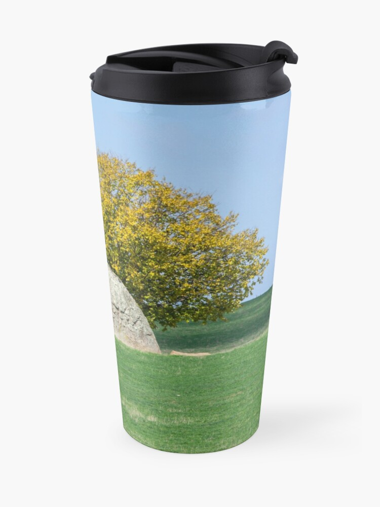 Alternate view of Rock and Tree in Meadow Travel Mug