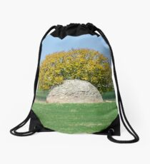 Rock and Tree in Meadow Drawstring Bag