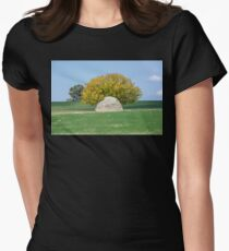 Rock and Tree in Meadow Women's Fitted T-Shirt