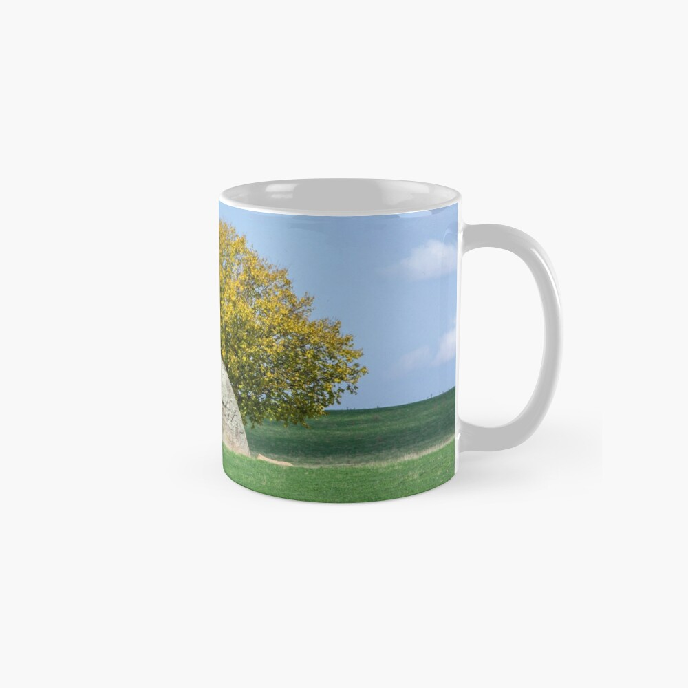 Rock and Tree in Meadow Mugs