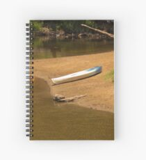 A Lonely Kayak Spiral Notebook