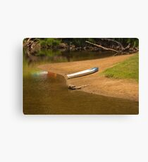 A Lonely Kayak Canvas Print