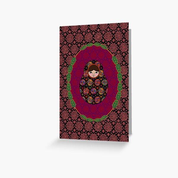 Carte Médaillon . Collection Volga . Sophia Poup's Carte de vœux