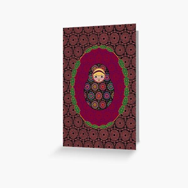 Carte Médaillon . Collection Volga . Tiffany Poup's Carte de vœux