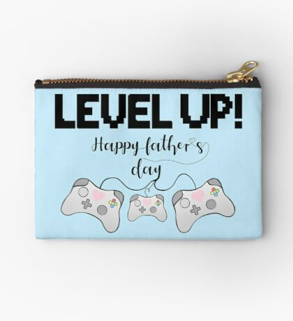 Gaming - Gamer - Fathers Day - LEVEL UP! Happy Father's Day! Zipper Pouch