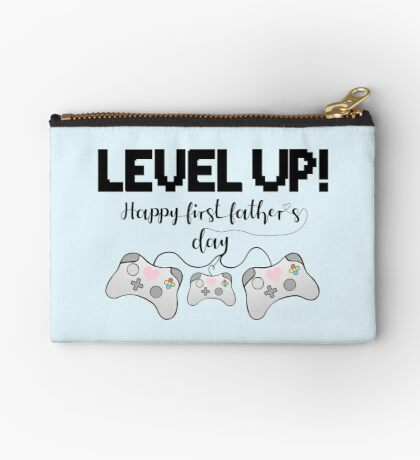 Gaming - Happy First Father's Day - GAMER - LEVEL UP! Zipper Pouch