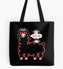 Skullpaka and UFOs are having rest  Tote Bag