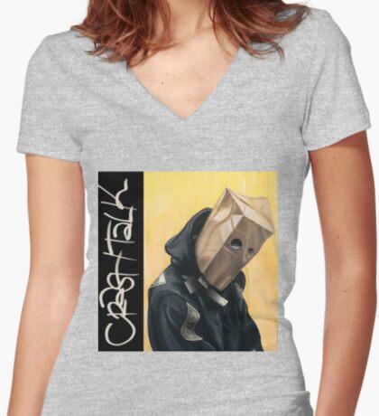 CrasH Talk Fitted V-Neck T-Shirt