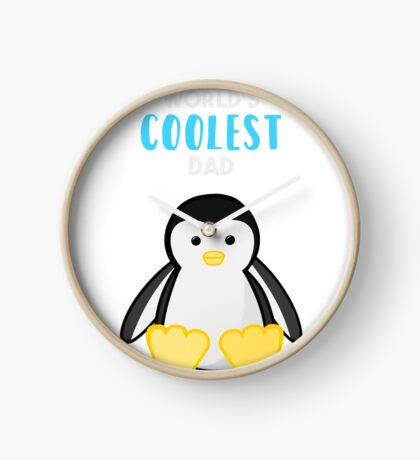 Penguin - World's Coolest Dad - Fathers Day Clock