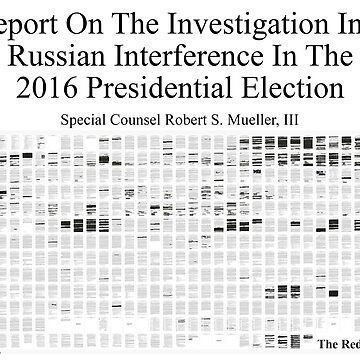 The Mueller Report: Redactions by ayemagine