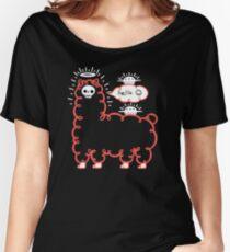Camiseta ancha para mujer Skullpaka y ovnis están descansando