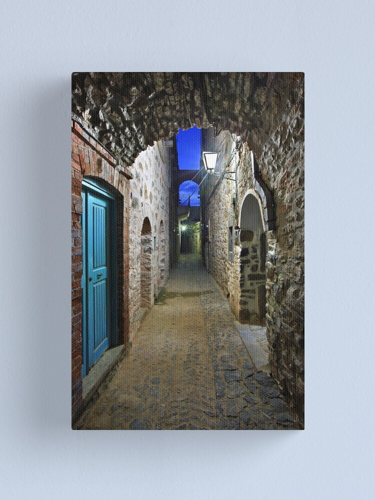 Alternate view of Walking in Mesta village - Chios island Canvas Print