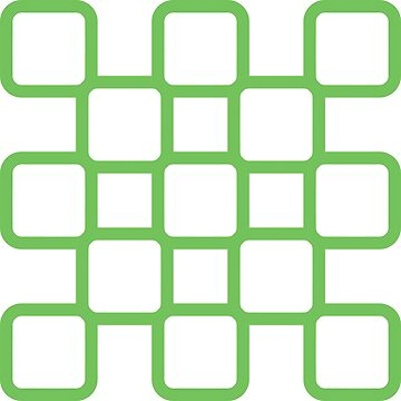 Geometric Pattern: Rounded Weave: Green/White by redwolfoz