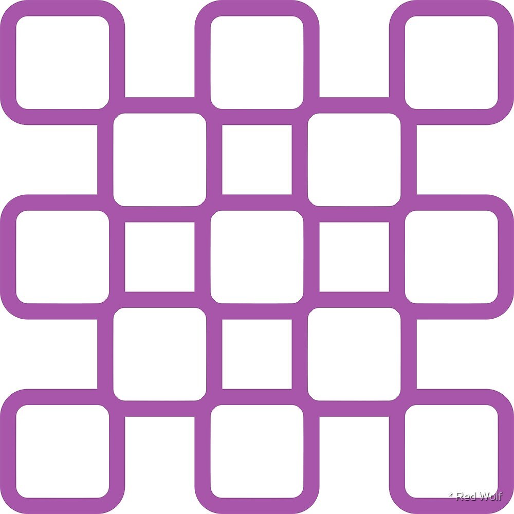 Geometric Pattern: Rounded Weave: Purple/White by * Red Wolf