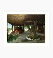 ABANDONED TAVERNA. THASSOS GREECE. Art Print