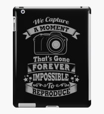 photography photographer t-shirt iPad Case/Skin