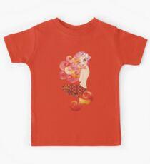 Coraleen, Mermaid in Pink Kids Tee