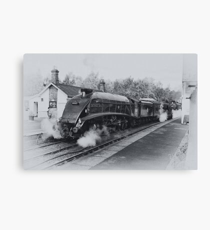 No 60007  Sir Nigel Gresley at Grosmont. Canvas Print