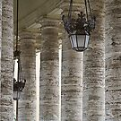 Columns and Lamp by martinilogic