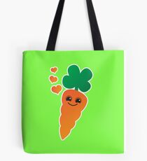Cute kawaii orange carrot with cute hearts Tote Bag