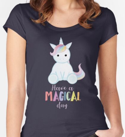 Unicorn - Have a MAGICAL Birthday Fitted Scoop T-Shirt