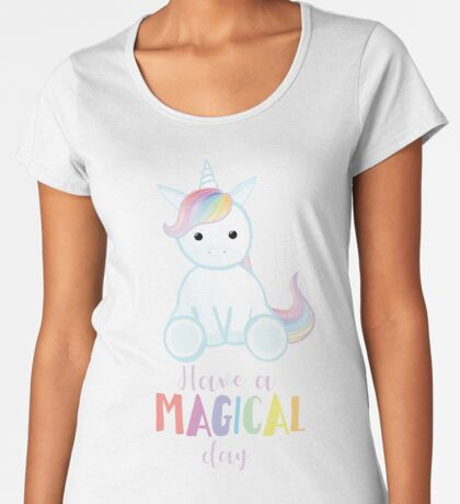 Unicorn - Have a MAGICAL Birthday Premium Scoop T-Shirt