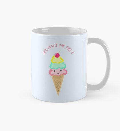 You make me melt - Ice Cream Pun T Shirt Mug