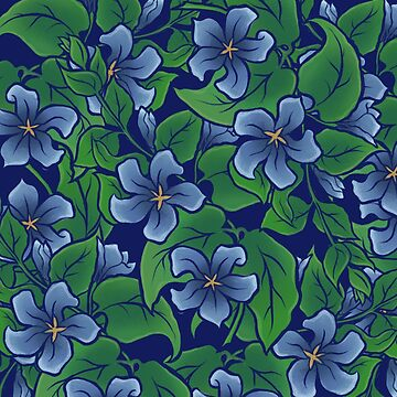 Blue Floral Pattern by Boogiemonst