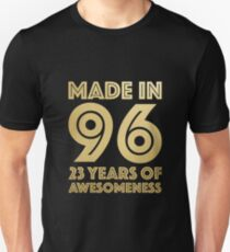 23rd Birthday Gift Adult Age 23 Year Old Men Women Unisex T-Shirt