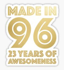 23rd Birthday Gift Adult Age 23 Year Old Men Women Sticker