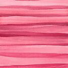 Girly Pink Watercolor Lines Pattern by blueskywhimsy