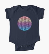 Rainbow Gradient Chunky Knit Pattern Kids Clothes