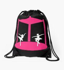 Ballet Carousel Drawstring Bag