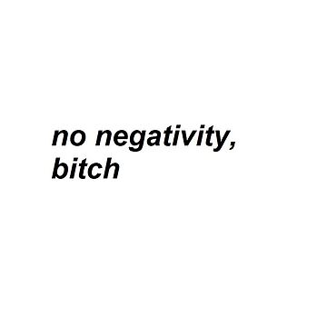 || no negativity ||  by fill14sketchboo