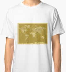 World Map landmarks 7 Classic T-Shirt