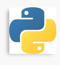 Python Logo Tile Print Canvas Print