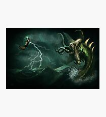 Beowulf vs the Jormungandr Photographic Print