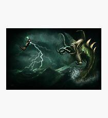 Beowulf vs the Jormungandr Photographic Print