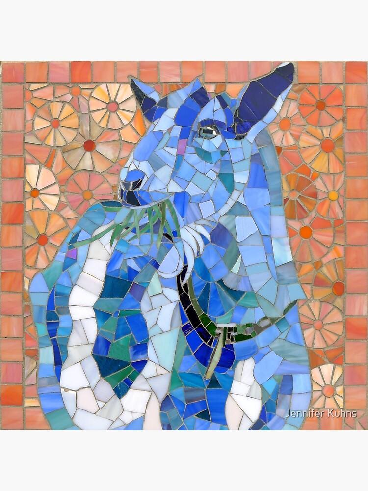 Gimli: blaues Ziegenmosaik von jkmosaic
